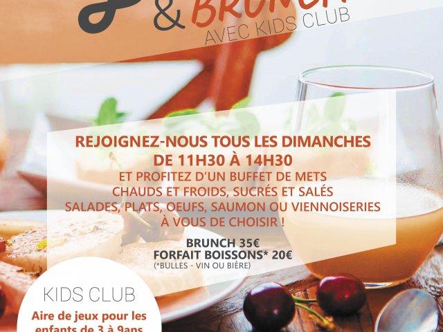 Flyer offre Bubbles and Brunch, Brunch du dimanche, Goeres Hotels, Luxembourg