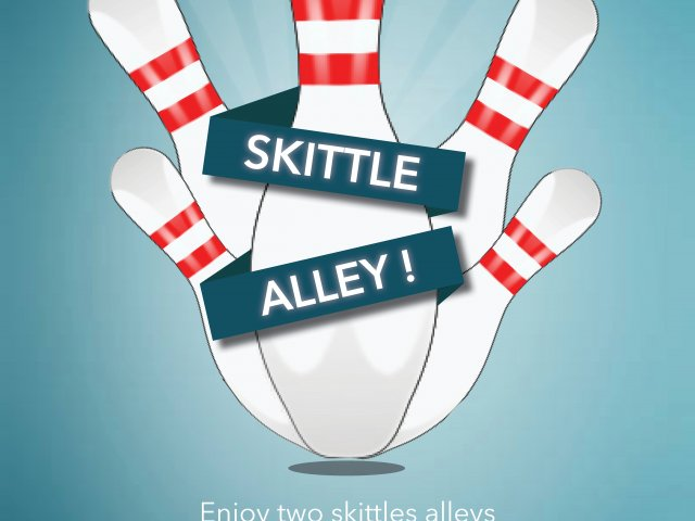 Flyer offers Skittle Alley at Le Bec Fin, Goeres Hotels, Luxembourg