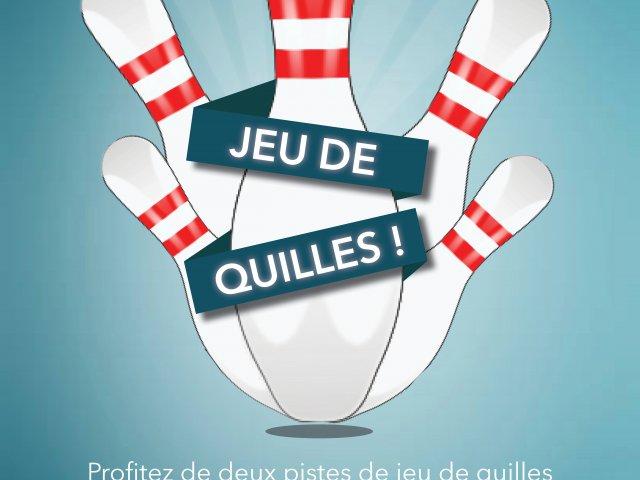 Flyer jeu de quilles au restaurant Le Bec Fin, Goeres Hotels, Luxembourg